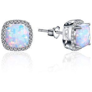 Ghostly Opal White Sapphire Earrings